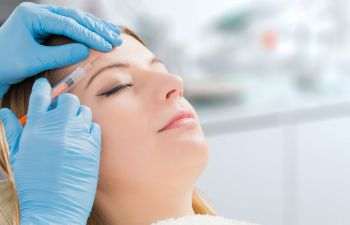 Woman Receiving Facial Injections Marietta GA,